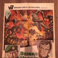 Cine: CARTEL DE CINE DEL ESTRENO DE LA PELÍCULA BOINAS VERDES, DE JOHN WAYNE (1968). Lote 136858508