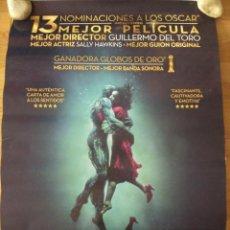 Cine: LA FORMA DEL AGUA - APROX 70X100 CARTEL ORIGINAL CINE (L61). Lote 136969102