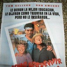 Cine: PÓSTER DE CINE ORIGINAL 70X100CM CÓMO SOBREVIVIR A LA FAMILA. Lote 137199586