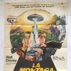Cine: LA MONTAÑA EMBRUJADA - POSTER CARTEL ORIGINAL WALT DISNEY EDDIE ALBERT RAY MILLAND DONALD PLEASENCE. Lote 137203478