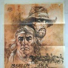 Cine: MISSOURI - POSTER CARTEL ORIGINAL - MARLON BRANDO JACK NICHOLSON ARTHUR PENN. Lote 137208354