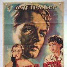 Cine: MI PADRE EL ACTOR - POSTER CARTEL ORIGINAL - O W FISCHER HILDE KRAHL ROBERT SIODMARK. Lote 137209726
