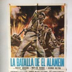 Cine: CARTEL ORIGINAL ARGENTINO LA BATALLA DEL ALAMEIN FREDERICK STAFFORD . Lote 137307662