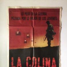 Cine: CARTEL ORIGINAL ARGENTINO LA COLINA DE LA HAMBURGUESA DIRECTOR: JOHN IRVIN DYLAN MCDERMOTT. Lote 137309922