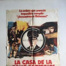 Cine: CARTEL ORIGINAL ARGENTINO A LA CAZA DE EICHMANN ROBERT DUVALL ARLISS HOWARD HOLOCAUSTO NAZISMO. Lote 137310134