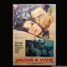 Cine: VOLVER A VIVIR. Lote 137331424