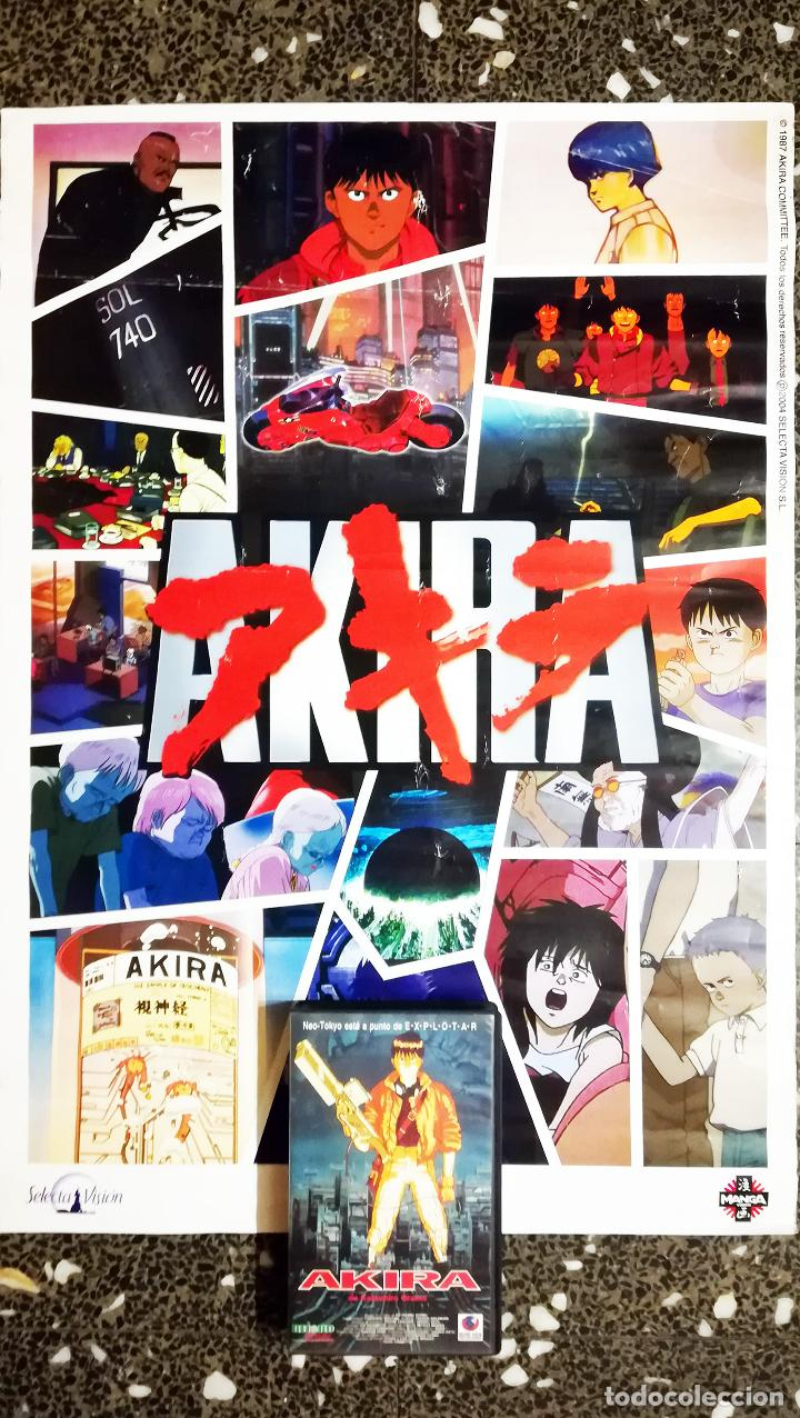 POSTER COLECCION Y DVD DE -AKIRA -DE 1987.POR SELECTA VISION 2004.TAMAÑO 70X48 CMS (Cine - Posters y Carteles - Ciencia Ficción)