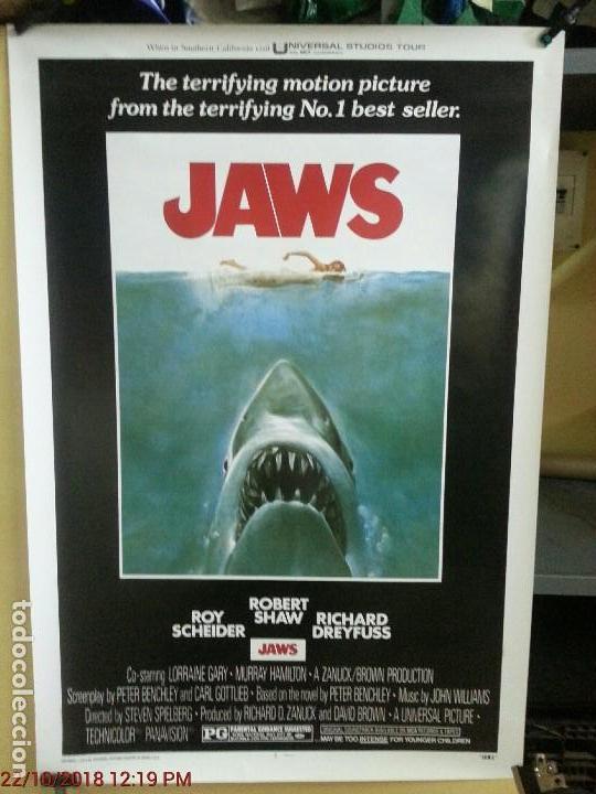 TIBURON ( JAWS ) (TÍTULO EN INGLÉS) (REPRODUCCIÓN) 67,5CMX99CM (Cine - Posters y Carteles - Terror)