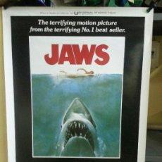 Cine: TIBURON ( JAWS ) (TÍTULO EN INGLÉS) (REPRODUCCIÓN) 67,5CMX99CM. Lote 137378650