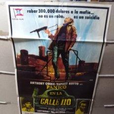 Cine: PÁNICO EN LA CALLE 110 ANTHONY QUINN POSTER ORIGINAL 70X100 YY (1919)JANO. Lote 137486369