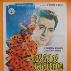 Cine: CARTEL, POSTER CINE - ORIGINAL - PELICULA: LOS CELOS Y EL DUENDE - AÑO 1967... A162. Lote 137505914