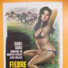 Cine: CARTEL, POSTER CINE - ORIGINAL - PELICULA: FIEBRE SEXUAL - AÑO 1978... A166. Lote 137509310