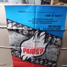 Cine: ARDE PARÍS POSTER ORIGINAL 70X100 YY. Lote 137533956