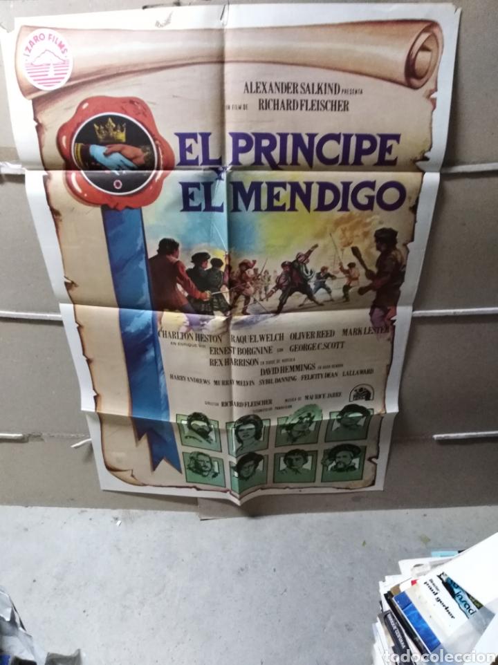 EL PRÍNCIPE Y EL MENDIGO CHARLTON HESTON POSTER ORIGINAL 70X100 YY (1938) (Cine - Posters y Carteles - Aventura)
