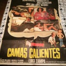 Cine: CARTEL POSTER GRANDE DE CINE. CAMAS CALIENTES. 100*70 CTMS. Lote 137556109