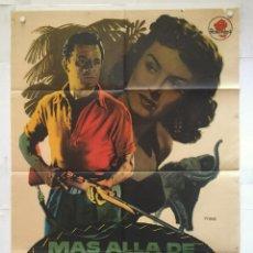 Cine: MAS ALLA DE MOMBASA - POSTER CARTEL ORIGINAL - CORNEL WILDE DONNA REED CHRISTOPHER LEE MAC. Lote 137598958