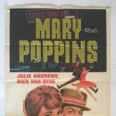Cine: MARY POPPINS - POSTER CARTEL ORIGINAL - WALT DISNEY JULIE ANDREWS DICK VAN DYKE GLYNIS JOHNS. Lote 137600954