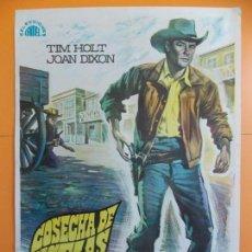 Cine: CARTEL, POSTER CINE - ORIGINAL - COSECHA DE PISTOLAS - 1968... A174. Lote 137616530