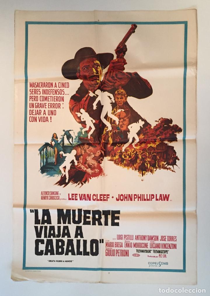 CARTEL ORIGINAL ARGENTINO DE HOMBRE A HOMBRE LEE VAN CLEEF SPAGHETTI EUROWESTERN (Cine - Posters y Carteles - Westerns)