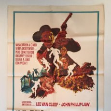 Cine: CARTEL ORIGINAL ARGENTINO DE HOMBRE A HOMBRE LEE VAN CLEEF SPAGHETTI EUROWESTERN. Lote 137619790