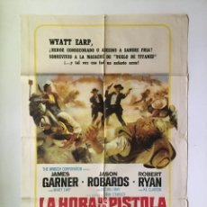 Cine: CARTEL ORIGINAL ARGENTINO LA HORA DE LAS PISTOLAS (JOHN STURGES, JAMES GARNER, EUROWESTERN. Lote 137619982