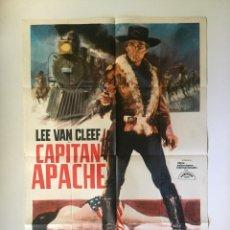 Cine: CARTEL ORIGINAL ARGENTINO CAPITAN APACHE. LEE VAN CLEEF CARROL BAKER STUART WHITE EUROWESTERN . Lote 137621482