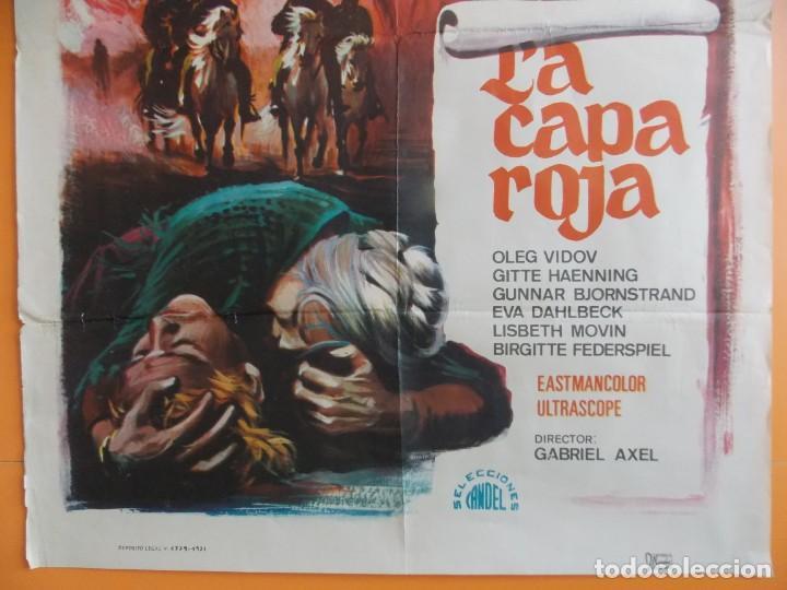 Cine: LA CAPA ROJA - CARTEL, POSTER CINE - AÑO 1971 - ORIGINAL ... A186 - Foto 3 - 137714534