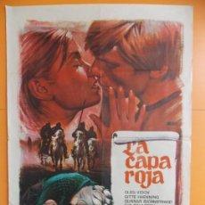 Cine: LA CAPA ROJA - CARTEL, POSTER CINE - AÑO 1971 - ORIGINAL ... A186. Lote 137714534