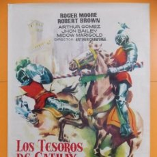Cine: CARTEL, POSTER CINE - ORIGINAL - LOS TESOROS DE CATHAY (IVANHOE) AÑO 1961.. A188. Lote 137811518