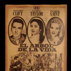 Cine: CARTEL DE CINE ANTIGUO, EL ARBOL DE LA VIDA.. Lote 137869934