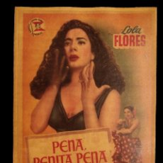 Cine: CARTEL ANTIGUO DE CINE, PENA , PENITA , PENA, LOLA FLORES.. Lote 137869942