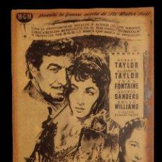 Cine: CARTEL DE CINE ANTIGUO, IVANHOE, 42 X 30. Lote 137869982