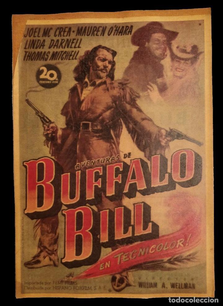 CARTEL DE CINE ANTIGUO BUFFALO BILL, (Cine - Posters y Carteles - Clasico Español)
