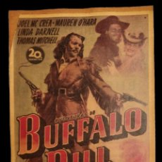 Cine: CARTEL ANTIGUO BUFFALO BILL,. Lote 137869994