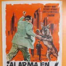 Cine: CARTEL, POSTER CINE - ALARMA EN CALIFORNIA - ORIGINAL - AÑO 1961 .. A190. Lote 137909334