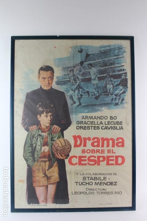 A-265. CARTEL DE CINE . DRAMA SOBRE EL CESPED. ILUSTRADO POR JANO. AÑO 1963. CINE ARGENTINO. (Cine- Posters y Carteles - Drama)