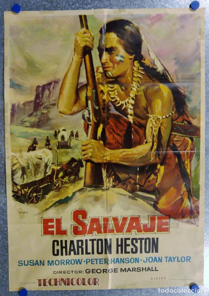 EL SALVAJE. CHARLTON HESTON, SUSAN MORROW. AÑO 1964 (Cine - Posters y Carteles - Westerns)