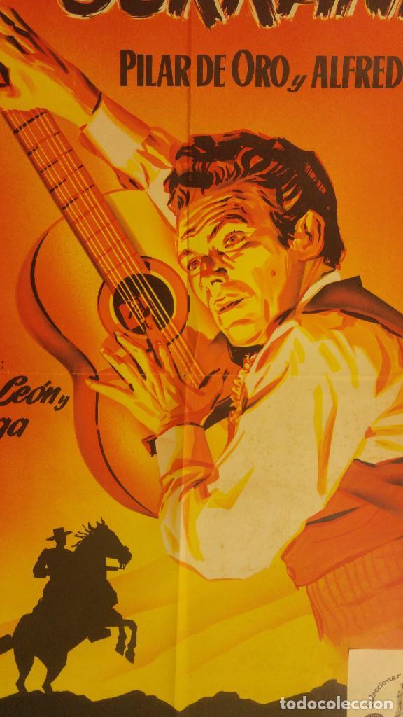 Cine: SERRANIA. PILAR DE ORO, ALFREDO GIL. AÑO 1955 - QUINTERO LEON Y QUIROGA, MUSICA. LITOGRAFIA - Foto 2 - 138139962