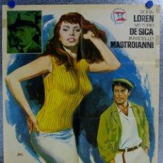 Cine: LA LADRONA, SU PADRE Y EL TAXISTA. MARCELLO MASTROIANNI, SOPHIA LOREN, VITTORIO DE SICA. AÑO 196. Lote 138144170