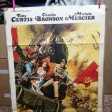 Cine: CARTEL CINE, BAJO CUALQUIER BANDERA, TONY CURTIS, CHARLES BRONSON, 1971. Lote 138244490
