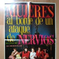 Cine: E-POSTER DE LA PELICULA -- MUJERES ALBORDE DE UN ATAQUE DE NERVIOS. Lote 138576470