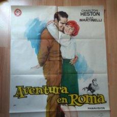 Cine: E-POSTER DE LA PELICULA -- AVENTURA EN ROMA. Lote 138588314