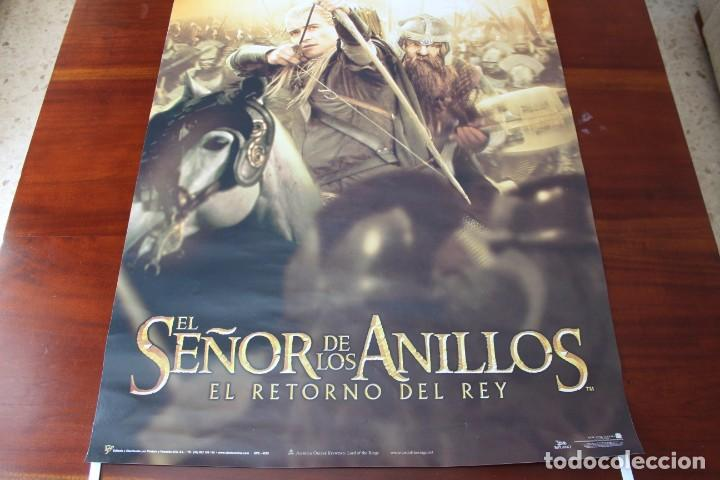Cine: CARTEL (2003): EL SEÑOR DE LOS ANILLOS: EL RETORNO DEL REY - 90X64 CM - Foto 3 - 138664554