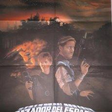 Cine: ORIGINAL CARTEL CINE-CAZADORES DEL ESPACIO,AVENTURAS EN LA ZONA PROHIBIDA,1983. Lote 138695394