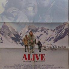 Cine: ALIVE MOVIE POSTER 1993, ORIGINAL, DOBLADO, ETHAN HAWKE, PARAMOUNT PICTURES. Lote 138698718