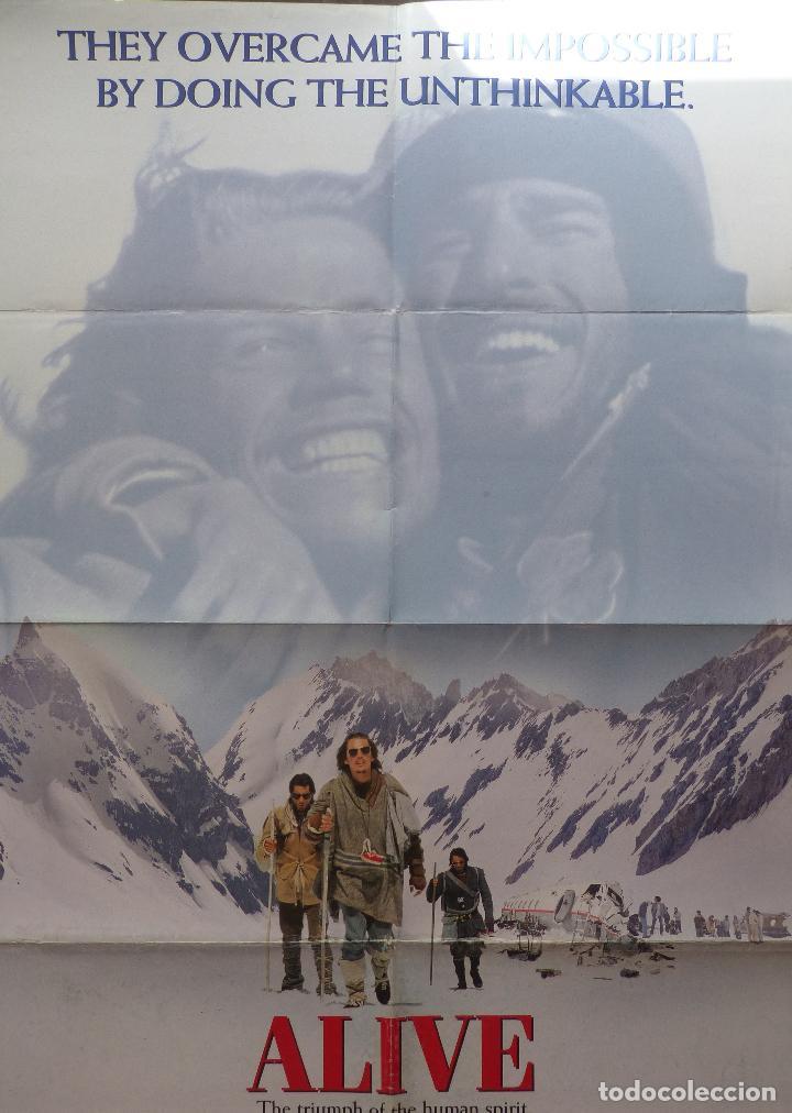 Cine: Alive Movie Poster 1993, Original, Doblado, Ethan Hawke, Paramount Pictures - Foto 4 - 138698718