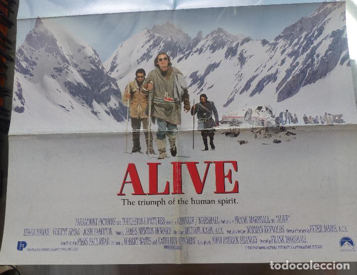 Cine: Alive Movie Poster 1993, Original, Doblado, Ethan Hawke, Paramount Pictures - Foto 5 - 138698718