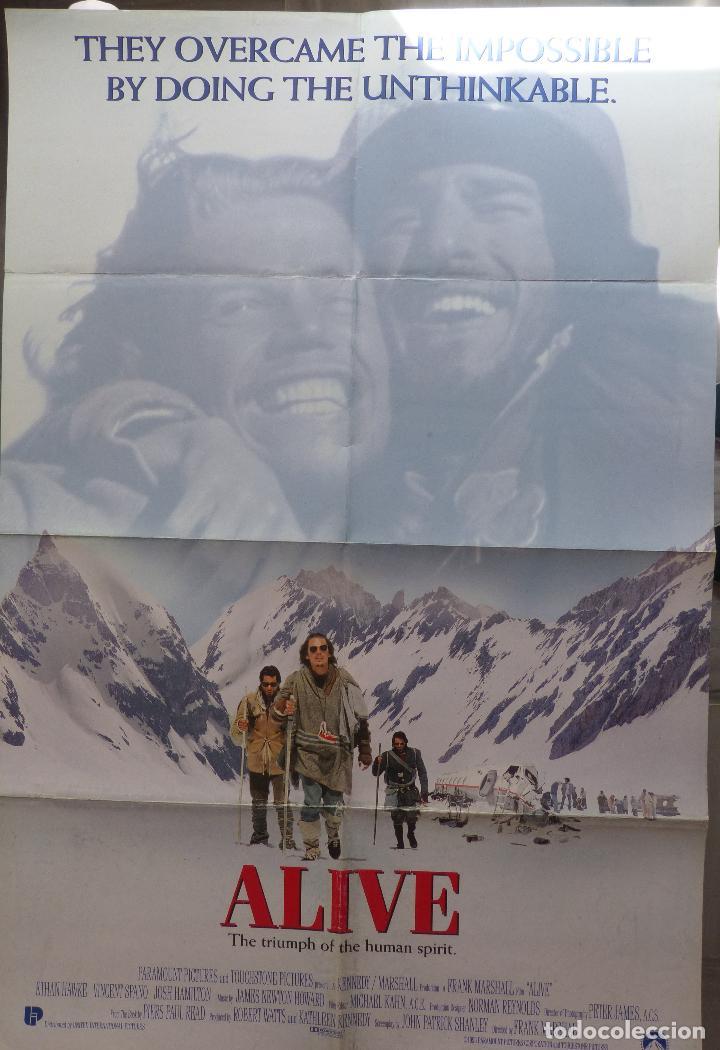 Cine: Alive Movie Poster 1993, Original, Doblado, Ethan Hawke, Paramount Pictures - Foto 6 - 138698718