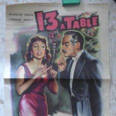 Cine: 13 A TABLE - ANDREA MUNEBELLE - CARTEL LITOGRAFICO ORIGINAL FRANCES - 60 X 40 CM ,APROX.. Lote 138783006