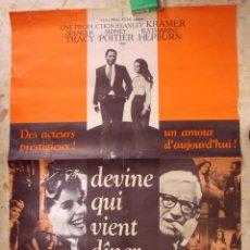 Cine: DEVINE QUI VIENT DINER - STANLEY KRAMER - CARTEL ORIGINAL FRANCES - 78 X 58 CM,APROX.. Lote 138828630